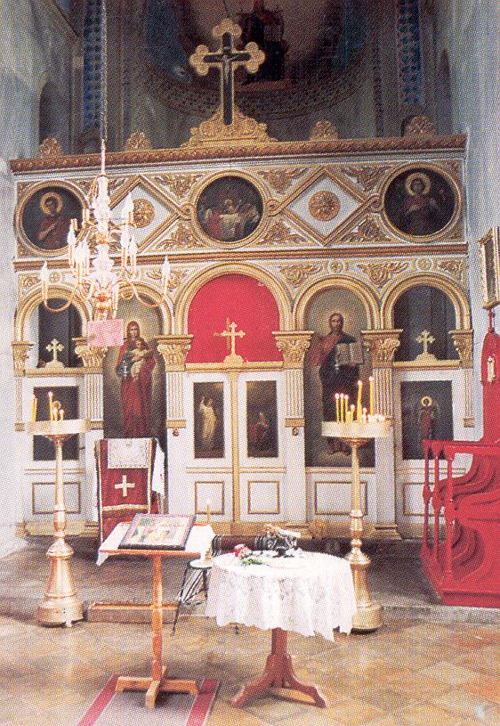 Ikonostas u crkvi u Malom Crnicu